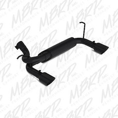 MBRP AXLE BACK EXHAUST 07-17 JEEP JK WRANGLER RUBICON 3.6L 3.8L STAINLESS BLACK - S5528BLK