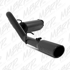 S5500BLK - MBRP CAT BACK EXHAUST 00-06 JEEP WRANGLER RUBICON TJ 2.5L 4.0L ALUMINIZED BLACK