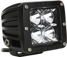 RIGID INDUSTRIES D-SERIES DUALLY HD HYBRID FLOOD LED LIGHT SINGLE BLACK - 20111