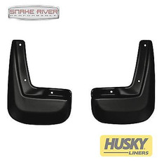 56861 - HUSKY LINERS FRONT MUD FLAPS GUARDS BLACK FOR 2011-2015 CHEVROLET EQUINOX
