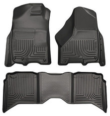 98211 - HUSKY FLOOR LINER WEATHERBEATER 07-13 CHEVY GM 1500 2500 3500 EXTENDED CAB BLACK