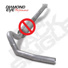"DIAMOND EYE 4"" EXHAUST 01-05 CHEVY GMC DURAMAX DIESEL NO MUFFLER CAT BACK - K4110A-RP"