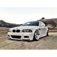 BMW E46 M3 CSL Style Front Bumper Lip Spoiler - FRP