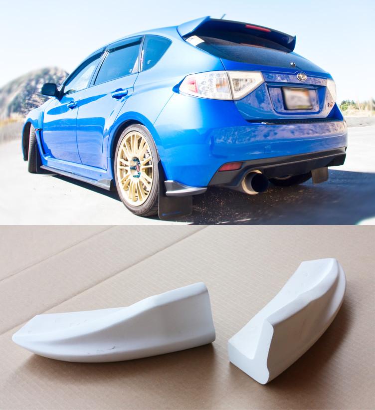 2008-2012 Subaru WRX STi Hatchback CS Rear Bumper Lip Spats - Forcewerkz Aero USA