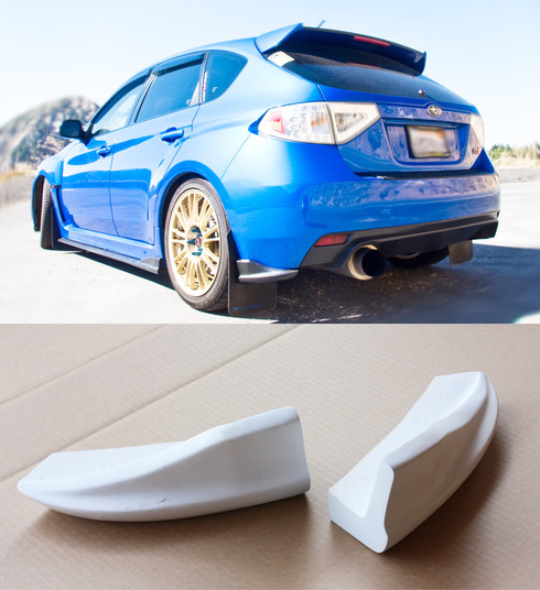 2008-2012 Subaru WRX STi Hatchback CS Rear Bumper Lip ...
