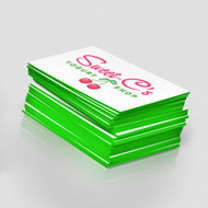 Tarjetas de 32 pts Impresas Full Color con Bordes en Colores