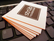 Tarjeta Social de 32 pts de Grosor con Bordes Pintados