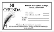 Sobre de Ofrenda Puerto Rico
