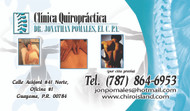 Quiropractico Jonathan Pomales, Ponce, Guayama Puerto Rico