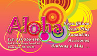 Tienda Aloha, Guayama Puerto Rico, Ejemplo de Arte de www.FullColorPR.com Stickers