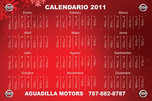 Aguadilla Mottors • Nissan Calendarios