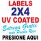 Labels 2 x 4 Full Color