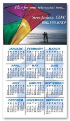 Calendario Full Color 4.25 x 11 16pts UV Coated