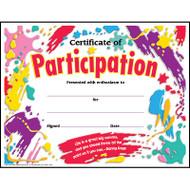 Ejemplo de Certificado de Participación 8.5 x 11 Full Color