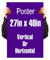 """Ejemplo de Poster 27"""" x 40"""" Full Color"""