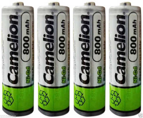 4 Camelion Aa Ni Cd 800mah 1 2v Rechargeable Solar Batteries Thebatterysupplier Com