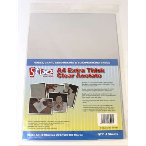 Stix2 - A4 Extra Thick Clear Acetate