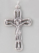 Chain Size: CRUCIFIX SILVER stylized cross - 40MM