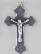Chain Size: CRUCIFIX SILVER#1 - 40MM