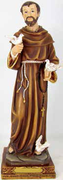 Resin Statue, St Francis 120mm