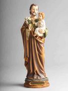 ST JOSEPH RESIN STATUE: 30CM