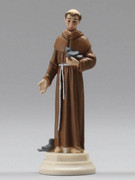 Plastic Magnetic Statue: ST FRANCIS