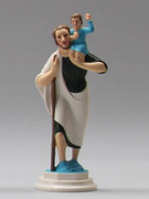 Plastic Magnetic Statue: ST CHRISTOPHER