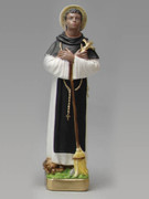 Plaster Statue: St Martin de Porres 30cm