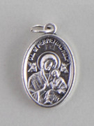 Silver Oxide Medal: Our Lady of Perpetual Succour (Help) (ME02233)