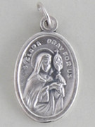 Silver Oxide Medal: St Clare (Clara) (ME02271)