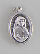 Silver Oxide Medal: St Sister Faustina (ME02284)