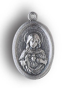 Silver Oxide Medal: Immaculate Heart of Mary (ME02202)