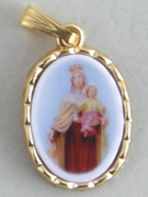 Gilt Picture Medal: O.L MT. CARMEL