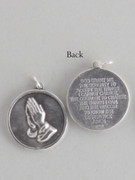 Silver Oxide Medal Serenity Prayer round (ME1127)