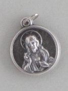 Silver Oxide Medal Round:  SCAPULAR 18MM