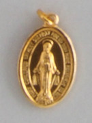 Gilt Aluminium Medal:   MIRACULOUS 18mm