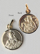 9kt Gold Pendants: SCAPULAR 10mm