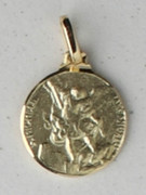 9kt Gold Pendants: ST MICHAEL 10mm