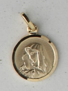 9kt Gold Pendant: Our Lady of Sorrow 13mm (ME9AD)