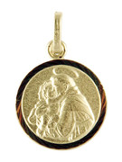 9kt Gold Pendants: St Anthony 13mm (ME911A)