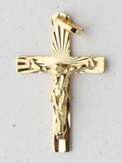 9kt Gold Pendants:  CRUCIFIX 33mm