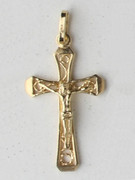 9kt Gold Pendant: Crucifix 31mm (CR9094)
