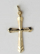 9kt Gold Pendants:  CROSS 29mm