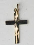 9kt Gold Pendants:  CROSS 28mm