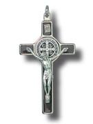 St Benedict Crucifix: 8cm Brown (CR8SBN)