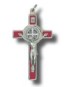 St Benedict Crucifix: 8cm Red (CR8SBR)