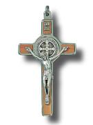 St Benedict Crucifix: 8cm Wood (CR8SB)