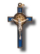 St Benedict Crucifix: 5.5cm (Random Colours )(CR5SB)