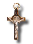 St Benedict Crucifix: Assorted Colours 3.5cm (CR3SB)