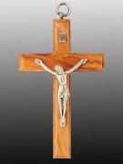 Wall Crucifix, Olive Wood 9cm (CROLL9)